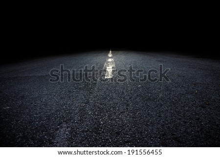 This image is so scary the dark tones. - stock photo