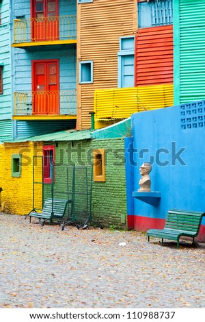 This image shows Colorful La Boca, Buenos Aires