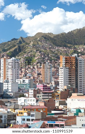 This image shows La Paz, Bolivia