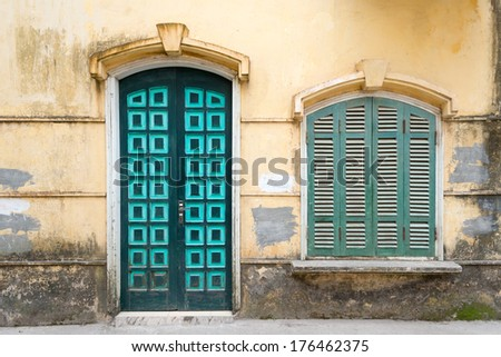This image shows the architecture of Hanoi, Vietnam. - stock photo