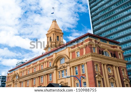 This image shows the Ferry Building - Auckland, New Zealand - stock photo