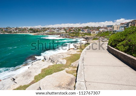 This image shows the scenery on the Bondi Beach to Bronte Walk, Sydney, Australia
