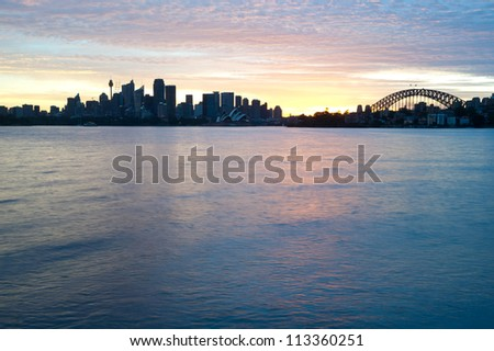 This image shows the Sydney Australia Skyline