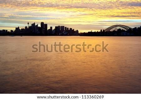 This image shows the Sydney Australia Skyline - stock photo