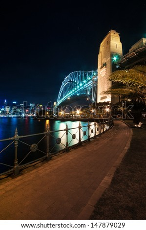This image shows the Sydney Skyline as seen from Milsons Point, Australi - stock photo