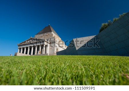 This image shows the The Shrine of Remembrance in Melbourne, Australia - stock photo