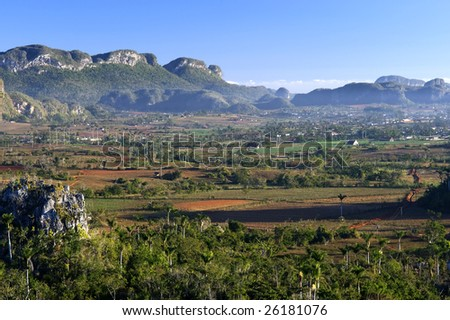 This image shows Vinales, in Cuba - stock photo