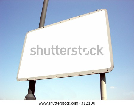This is a blank sign.