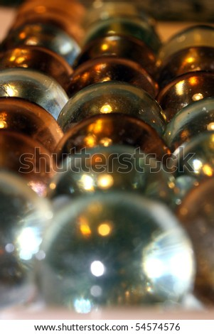 this is a bundle of marbles, with shallow dof. - stock photo