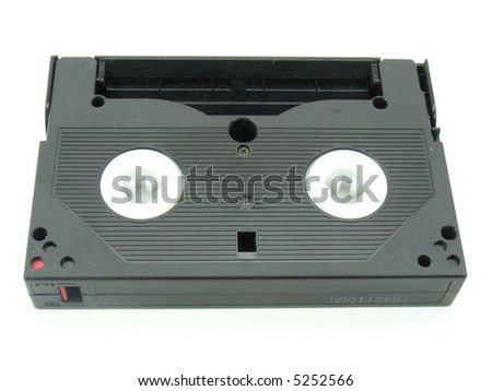 This is a close up of a video cassette. This is of the digital 8 model of a few years ago.