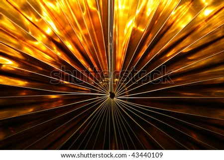 ... golden decoration, for New Year, like nice background. - stock photo