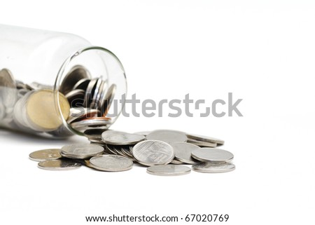 This is a  Coin in isolated shot - stock photo
