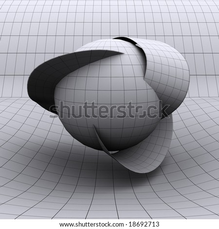 This is a conceptualized extra dimension as theorized by string theory and other physics models. - stock photo
