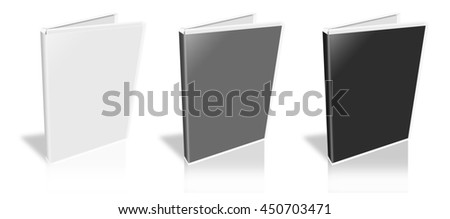 This is a 3D rendering of a white DVD Case.