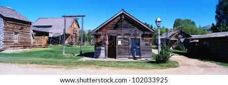 This is a ghost town near Virginia City. - stock photo