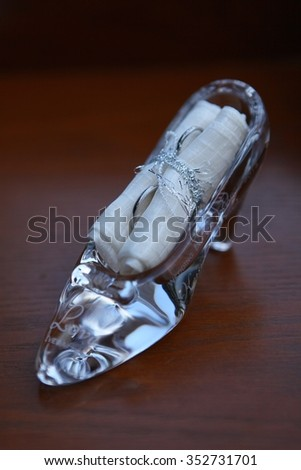 This is a glass of shoes - stock photo