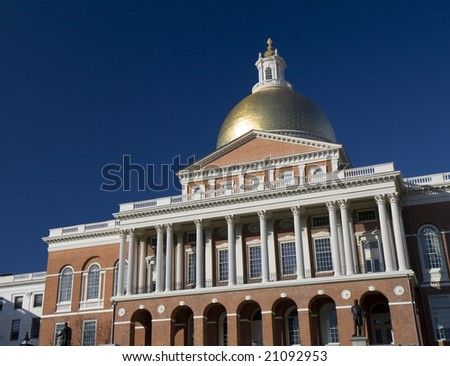 This is a Massachusetts State House in Boston