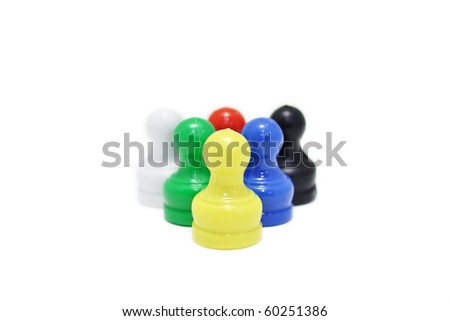 This is a Mini Chess in isolated shot - stock photo