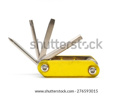 This is a Multi tool. It taken in isolated shot - stock photo