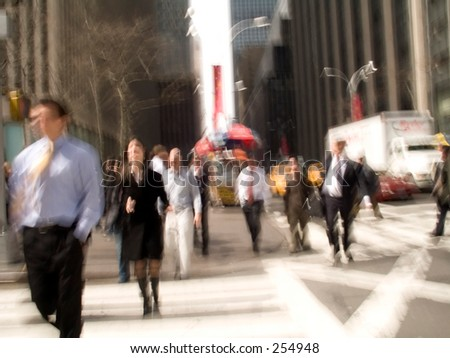 This is a New York City intersection abstract blur shot.