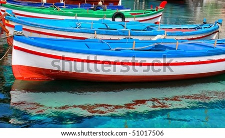 This is a photo of fishing boats