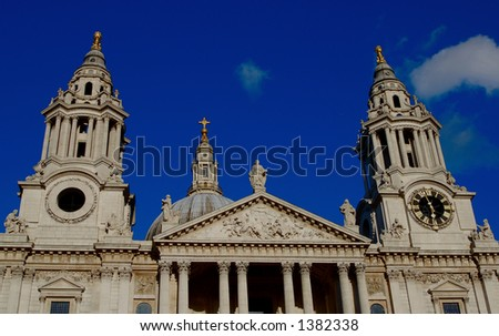 This is a photo of the historic and very old St Paul's Cathedral in London.