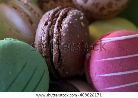 This is a photograph of Macarons