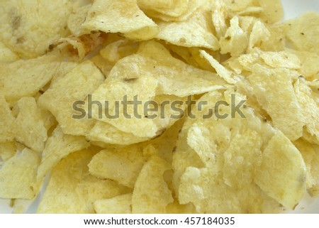 This is a photograph of Potato chips
