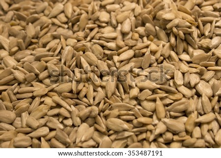 This is a photograph of sunflower seeds