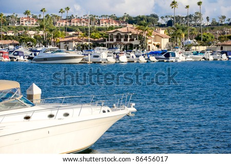This is a photograph of the homes in beautiful Back Bay Newport Beach, California, United States of America.