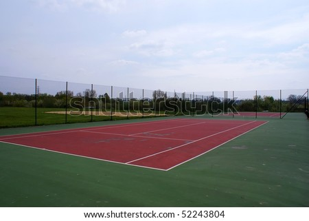 This is a picture od tennis court