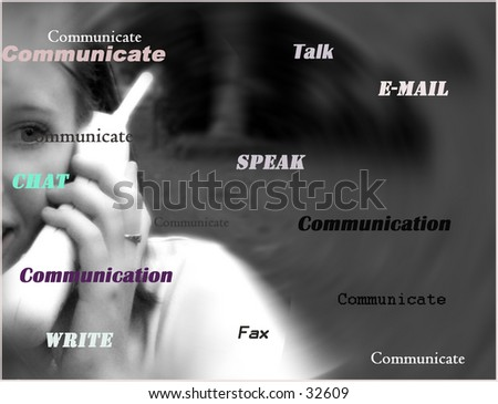 This is a picture of a young girl chatting on the telephone to a friend - stock photo