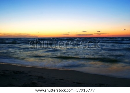 This is a picture of sunset by the sea