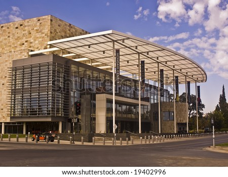 This is a picture of the Robert Mondavi Performing Arts Center at the University of California at Davis, a public university. - stock photo