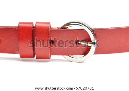 This is a Red Belt in isolated shot - stock photo