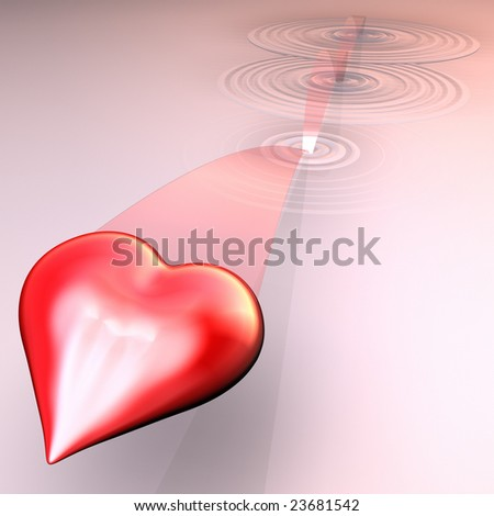 This is a rendering of a Heart being skipped - stock photo