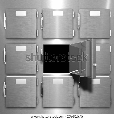 This is a rendering of a  Morgue Freezer - stock photo