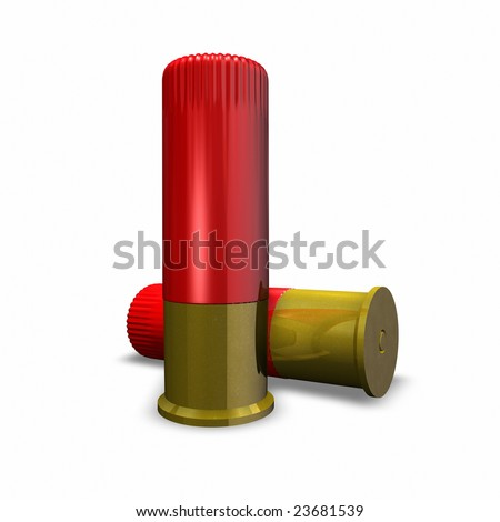 This is a Rendering of Shotgun Shells - stock photo