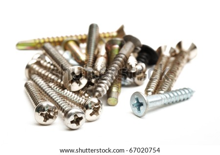 This is a Screw in isolated shot - stock photo