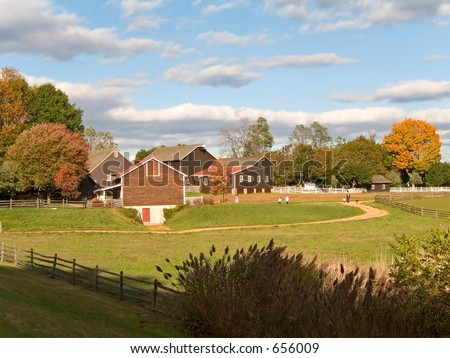 This is a shot of the historic Long Street Farm located in Holmdel NJ. - stock photo