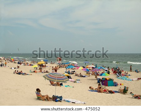This is a shot taken on a beautiful beach day at Island Beach State Park along the Jersey shore.