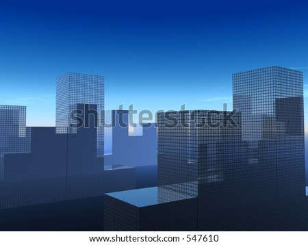 This is a simple city cityscape.