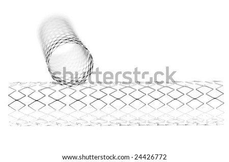 This is a stent. A stent is used to open narrow or weak arteries, and therefor a life saver. - stock photo