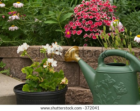 This is a still life representing gardening.