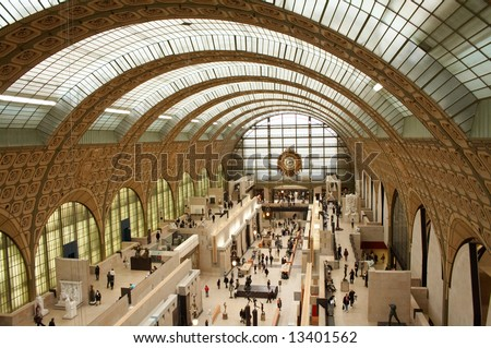 This is a stock photograph of the Musee d'Orsay in Paris, France. - stock photo