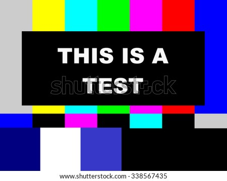This is a Test SMPTE color bars television test pattern  - stock photo