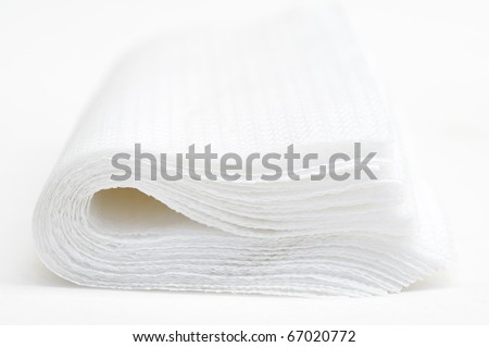 This is a TISSUE in isolated shot - stock photo