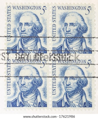 This is a Vintage 1966 Stamp George Washington