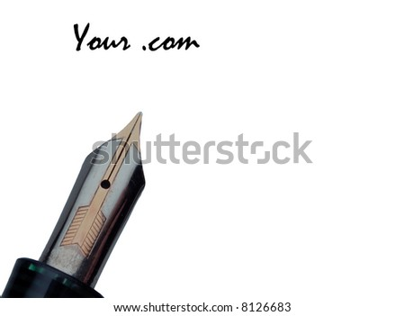 This is a welcome note or invitation that can be used for any web page or other form of invitation. - stock photo