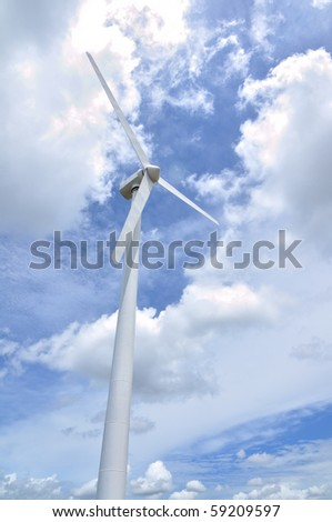 This is a  Wind turbine in Thailand - stock photo